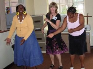 Ruth, Susan & Winnie – gettin' dowwwn!